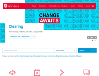 www2.le.ac.uk screenshot