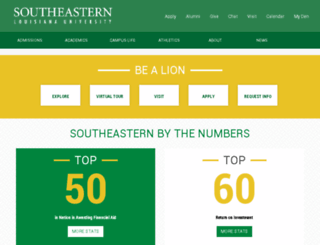 www2.southeastern.edu screenshot