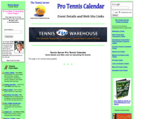 www2.tennisserver.com screenshot