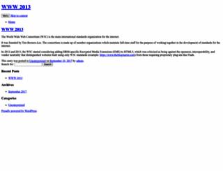 www2013.org screenshot