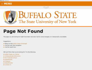 wwwd.buffalostate.edu screenshot