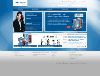 wwwdev.baumer.com screenshot