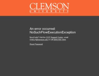 wwwdev.clemson.edu screenshot