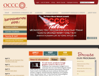 wwwdev.occc.edu screenshot