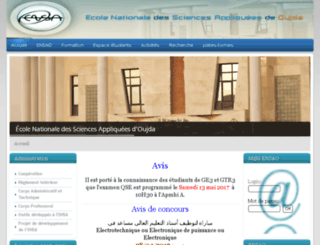 wwwensa.univ-oujda.ac.ma screenshot