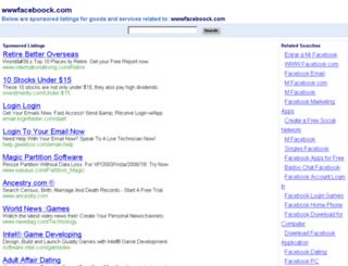 wwwfaceboock.com screenshot