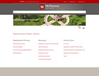 wwwi.mcpherson.edu screenshot