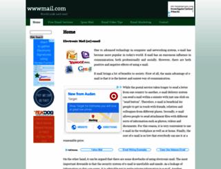 wwwmail.com screenshot