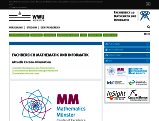 wwwmath.uni-muenster.de screenshot
