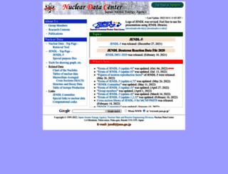 wwwndc.jaea.go.jp screenshot