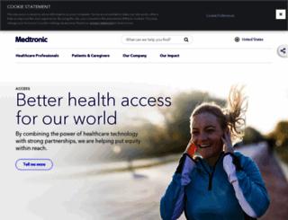 wwwp.medtronic.com screenshot
