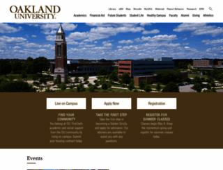 wwwp.oakland.edu screenshot