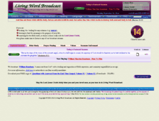 wwww.livingwordbroadcast.org screenshot