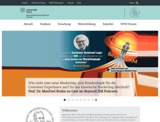 wwz.unibas.ch screenshot