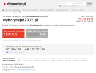 wyborysejm2015.pl screenshot