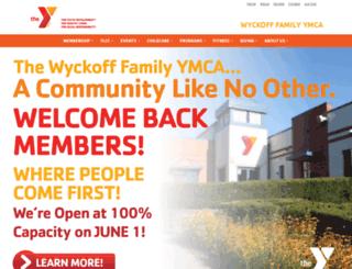 wyckoffymca.org screenshot