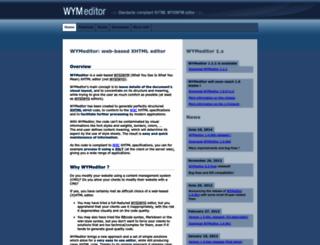 wymeditor.org screenshot