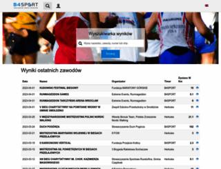 wyniki.b4sport.pl screenshot