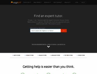 wyzant.com screenshot