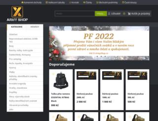 x-armyshop.cz screenshot