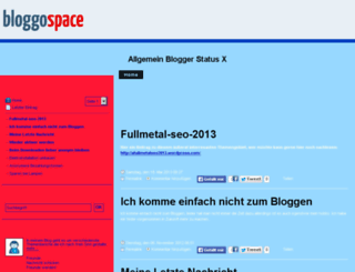 x-blogger.bloggospace.de screenshot