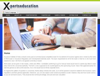 x-pertseducation.com screenshot