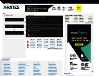 x-rates.com screenshot