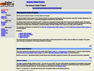 xalan.apache.org screenshot