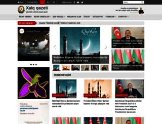 xalqqazeti.com screenshot