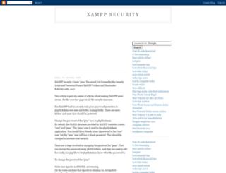 xampp-security.blogspot.com screenshot