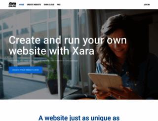 xaraonline.com screenshot