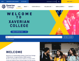xaverian.ac.uk screenshot
