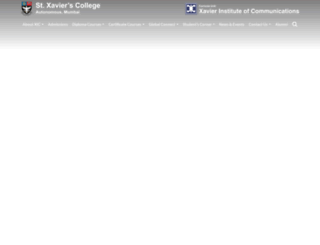 xaviercomm.org screenshot