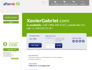 xaviergabriel.com screenshot