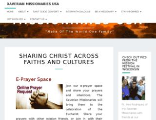 xaviermissionaries.org screenshot
