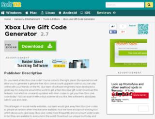 xbox-live-gift-code-generator.soft112.com screenshot