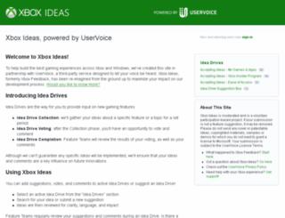 xbox.uservoice.com screenshot