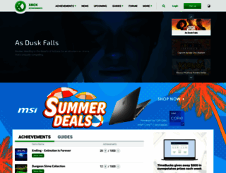 xbox360achievements.org screenshot