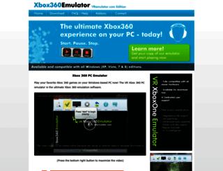 xbox360pcemulator.com screenshot