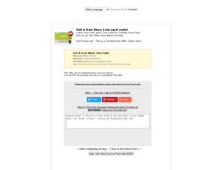 xboxlive.freegiftcode.com screenshot