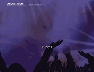 xcessmusic.com screenshot