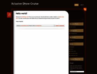 xclusivedhowcruise.wordpress.com screenshot