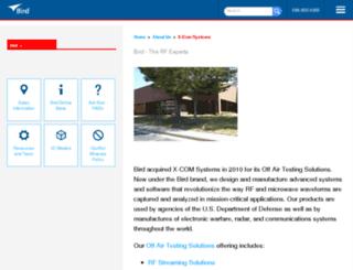 xcomsystems.com screenshot