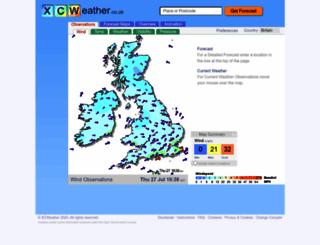 xcweather.co.uk screenshot