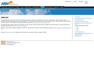 xdc.arm.gov screenshot
