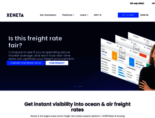 xeneta.com screenshot