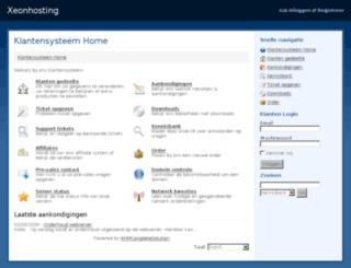 xeonhosting.nl screenshot