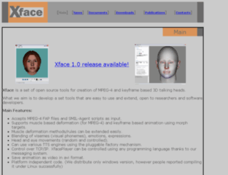 xface.itc.it screenshot