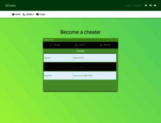 xgamecheats.com screenshot