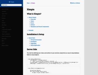 ximpia.readthedocs.org screenshot